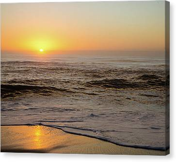 Sunrise In The Foggy Morning Canvas Print
