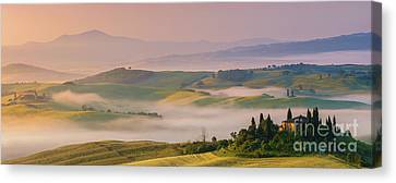 Sunrise In The Tuscany Canvas Print by Henk Meijer Photography