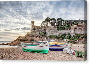 Sunrise In Tossa De Mar, Catalonia Canvas Print