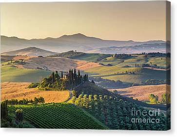 Sunrise In Tuscany Canvas Print by JR Photography