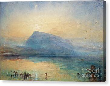 Lucerne Canvas Print - Sunrise by Joseph Mallord William Turner