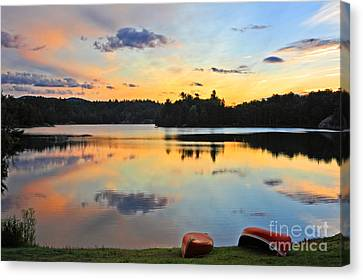 Sunrise Killarney Provincial Park Canvas Print by Charline Xia