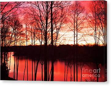 Sunrise Lake Norman North Carolina Canvas Print by Kim Fearheiley