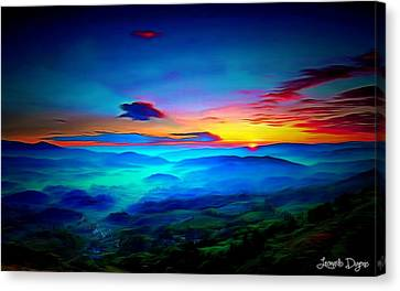 Heaven Canvas Print - Sunrise by Leonardo Digenio
