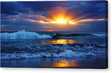 Sunrise Light Wave  Canvas Print