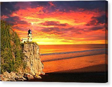 Sunrise Lighthouse Canvas Print by Marty Koch