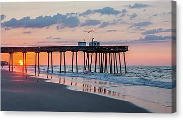 Sunrise Ocean City Fishing Pier Canvas Print