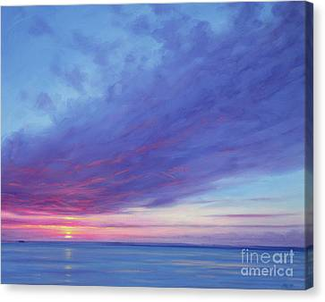 Sunrise Off Treasure Cay Canvas Print by Derek Hare