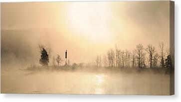 Sunrise On A Foggy Morning Canvas Print by Louise Fahy