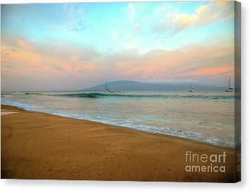 Canvas Print featuring the photograph Sunrise On Ka'anapali by Kelly Wade