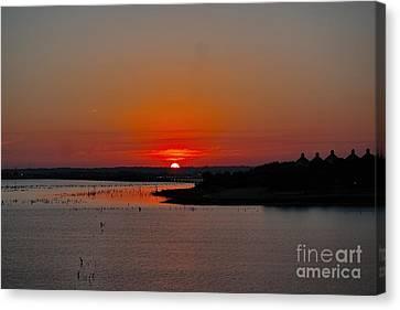 Sunrise On Lake Ray Hubbard Canvas Print by Diana Mary Sharpton