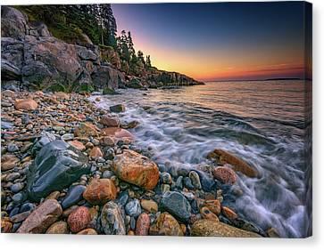 Sunrise On Little Hunters Beach Canvas Print