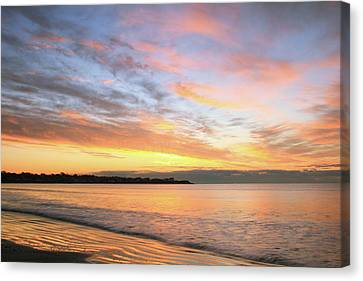 Canvas Print featuring the photograph Sunrise On Middletown Rhode Island by Roupen  Baker