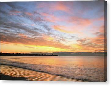 Sunrise On Middletown Rhode Island Canvas Print by Roupen  Baker