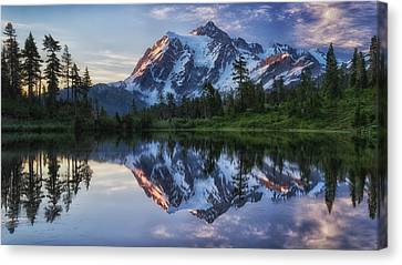 Sunrise On Mount Shuksan Canvas Print by James K. Papp