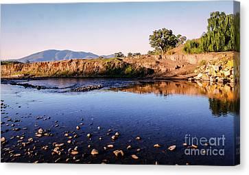 Sunrise On Nariel Creek Canvas Print