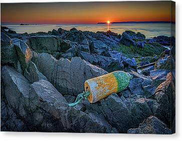 Rocky Maine Coast Canvas Print - Sunrise On Passamaquoddy Bay by Rick Berk