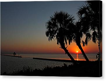 Canvas Print featuring the photograph Sunrise On Pleasure Island by Judy Vincent