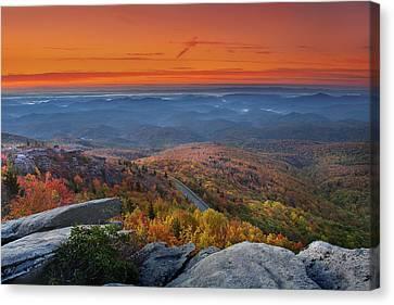 Sunrise On Rough Ridge  Canvas Print