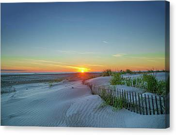 Sunrise On The Beach Canvas Print by Bill Cannon