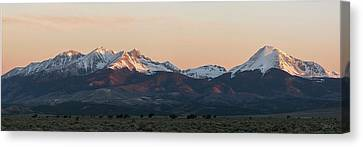Sunrise On The Blanca Group Canvas Print by Aaron Spong