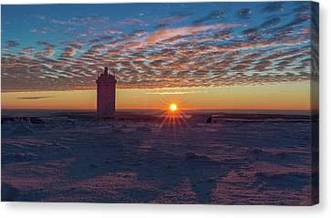 Sunrise On The Brocken, Harz Canvas Print
