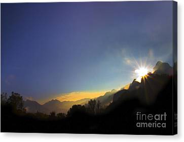 Sunrise On The Cajas Range Of The Andes Canvas Print by Al Bourassa