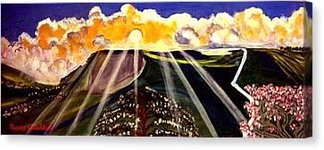 Sunrise On The Darren Mountain Canvas Print