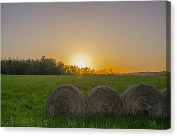 Sunrise On The Farm Canvas Print by Bill Cannon