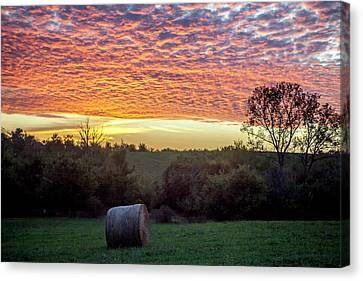 Canvas Print featuring the photograph Sunrise On The Farm by Wade Courtney