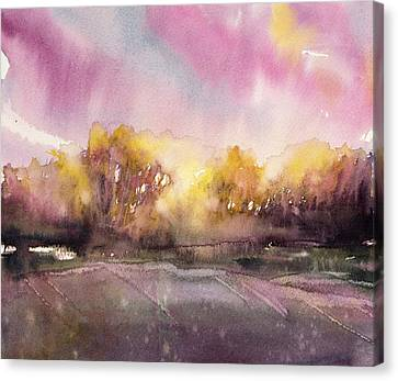 Sunrise On The Lane Canvas Print by Judith Levins