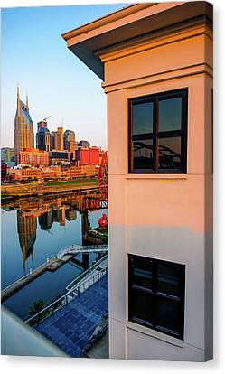 Sunrise On The Nashville Tennessee Skyline Canvas Print
