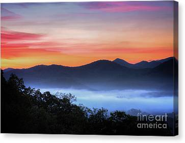Smokey Mountains Canvas Print - Sunrise On The Parkway by Todd Bielby
