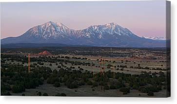 Sunrise On The Spanish Peaks Canvas Print by Aaron Spong
