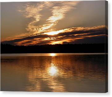 Sunrise On The Turtle Flambeau Flowage Canvas Print