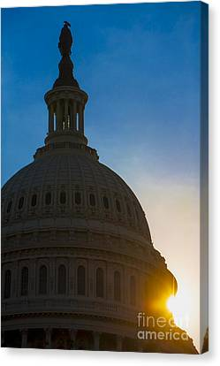 Sunrise On The United States Capitol Building  Canvas Print