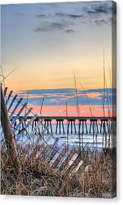 Sunrise On Wrightsville Beach Canvas Print