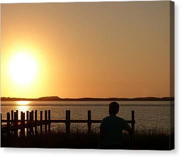 Sunrise Over Assateaque Canvas Print by Donald C Morgan
