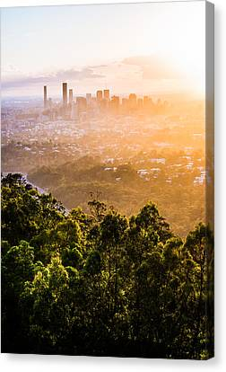 Sunrise Over Brisbane Canvas Print