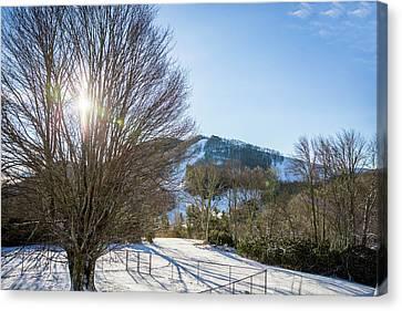 Sunrise Over Cataloochee Ski Canvas Print
