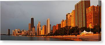 Sunrise Over Chicago Canvas Print by Adam Romanowicz