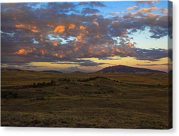 Sunrise Over Elk Mountain Canvas Print