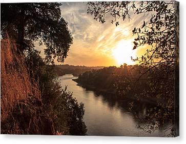 Sunrise Over Fair Oaks Canvas Print by Randy Wehner Photography