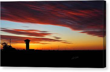 Sunrise Over Golden Spike Tower Canvas Print
