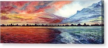 Sunrise Over Indian Lake Canvas Print