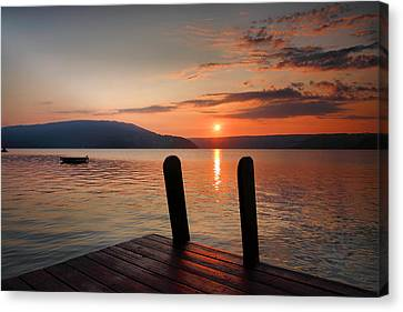Keuka Lake Canvas Print - Sunrise Over Keuka IIi by Steven Ainsworth