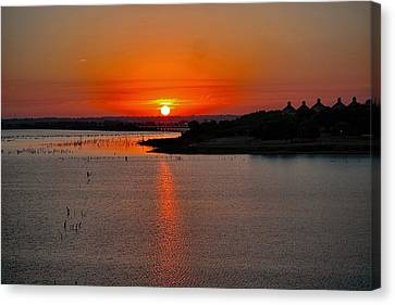 Canvas Print featuring the photograph Sunrise Over Lake Ray Hubbard by Diana Mary Sharpton