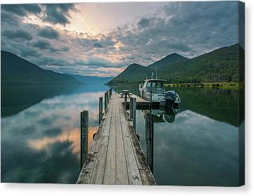 Sunrise Over Lake Rotoroa Canvas Print