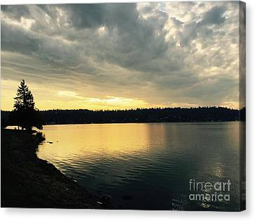 Sunrise Over Lake Washington Canvas Print