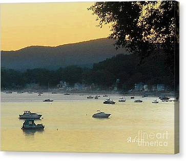 Sunrise Over Malletts Bay Panorama - Nine V2 Detail Canvas Print